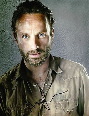 "ANDREW LINCOLN THE WALKING DEAD Signed Autographed 8x10"" Photo"