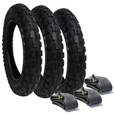 Phil and Teds Dash  Heavy Duty Chunky Pram Tyres & Tubes (Set of 3) - FREEPOST