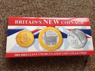 2004 Britain's New Coinage Brilliant Uncirculated Coin Collection.