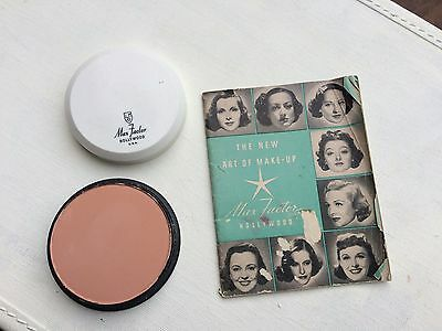 Vintage Max Factor Pan-Cake Make-Up Natural Rose & 1940 Art of Make-Up Booklet