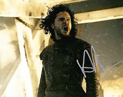 "KIT HARINGTON  GAME OF THRONES Signed Autographed 8x10"" Photo 03"