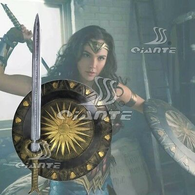 New Wonder Woman Cosplay Sword Shield FRP Cos Prop Comic Con Great Collection