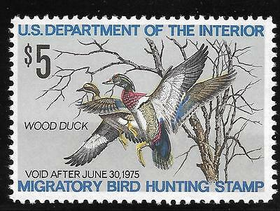 US Stamp #RW41 1974 Duck Hunting Permit MINT nh $18