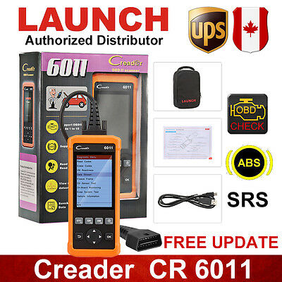 LAUNCH Creader 6011 OBD2 Scan Tool ABS SRS Data Record For GM Ford Honda BMW UPS