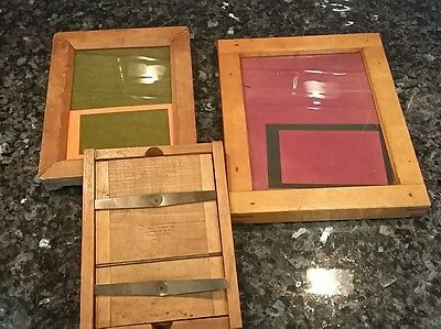 Vintage Wood Contact Printing Frames 5x7 Negatives Eastman, 6.5x8.5 Century +
