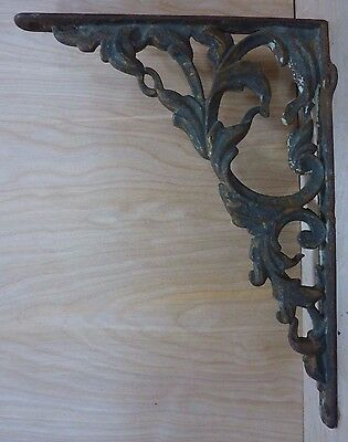 Antique Cast Iron Decorative Art Bracket Original Old Architectural Hardware