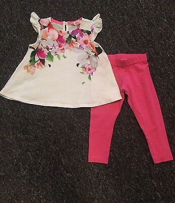 Baby Girls Ted Baker Summer Top And Leggings Set 12-18 Months