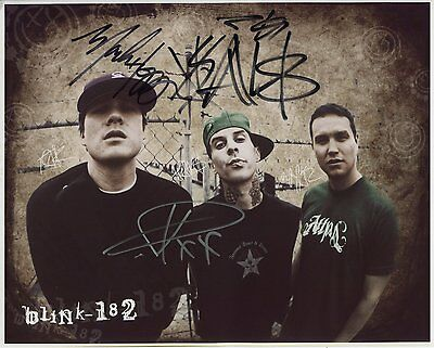 "Blink 182 FULLY Signed Autographed 8x10"" Photo"