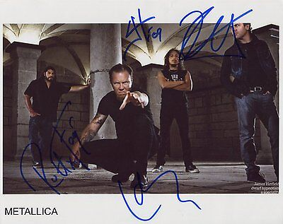 "Metallica FULLY -Signed Autographed 8x10"" Photo"