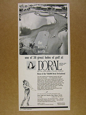 1963 Doral Hotel & Country Club miami Ninth 9th Hole photo vintage print Ad
