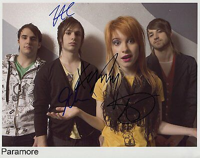 "Paramore FULLY -Signed Autographed 8x10"" Photo"