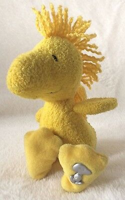 """Vintage 6"""" Woodstock Plush, Peanuts Snoopy United Features Syndicate Collectable"""