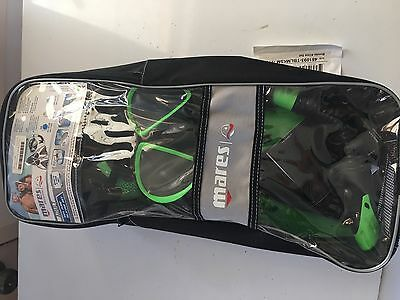 Mask, Snorkel & Fin Set - Mares S/M - Green