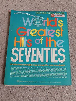 Worlds Greatest Hits of The Seventies Harrison Badfinger Fogerty (Songbook)