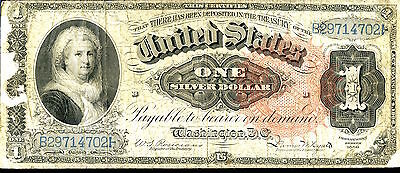 1886 $1 Silver Certificate - US Note - Large Currency - One Dollar SZ037