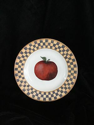 Block China Country Orchard Apple Salad Plate By Gear 1995