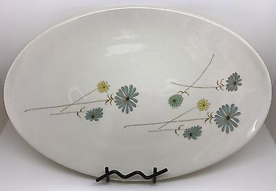 Informal Ben Seibel IROQUOIS China, Blue Yellow White DAISY Oval Platter (RF657)