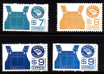 MEXICO Exporta 7th paper.#1122-1124 Denim.3 val, ($9:00) 2 dif. tones,MNH,VF