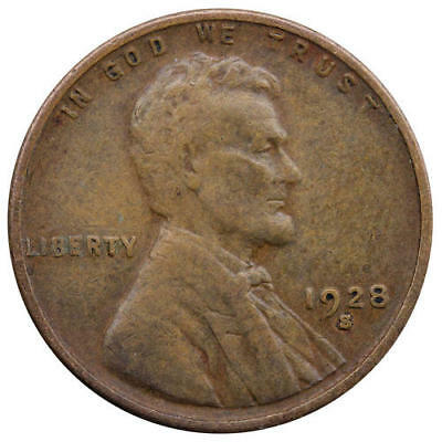 1928 S Lincoln Wheat Cent Small S Very Fine Penny VF