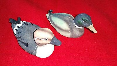 """Beautiful Pair of Resin Duck Figurines, Approx. 4"""" long each"""