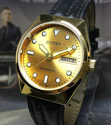 Vintage Citizen Automatic 21 Jewels Day Date Gold Plated Wrist Watch (S. 61)