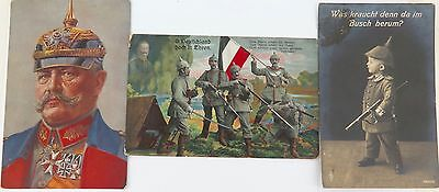 .Ww1 3 Good German Postcards. 2 Are Dated 1915 & 1916.
