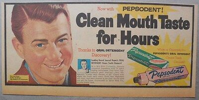 Pepsodent Toothpaste Ad: Arthur Godfrey CBS TV Show from 1953 ! 7.5 x 15 inch