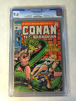 CONAN the BARBARIAN #7 CGC 9.6  BW SMITH, 1ST THOTH AMON, 1971, BUSCEMA, BY CROM