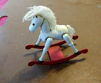 Vintage Enesco 1980 Collectible  Christmas Ornament~Rocking Horse~Retro Charm