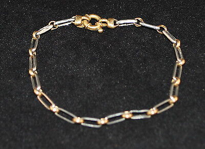 Vintage 18K Gold & Platinum Bracelet - Milor - 7.5 Inches