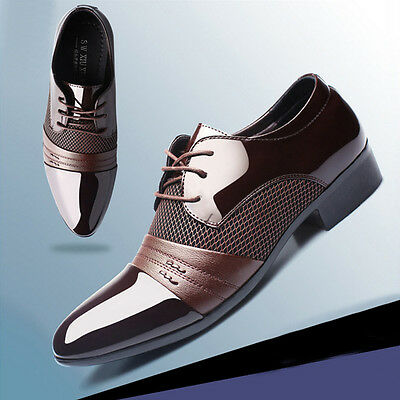 Formal Shoes Men Leather New Dress Oxfords Business Dress Fashion Casual Shoes