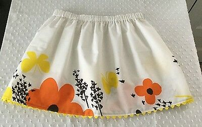 NEW Girl's Vintage Style Cotton Butterfly Skirt - Size 14