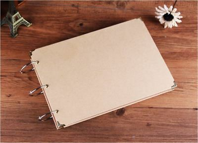 A5 - DIY 30Pgs *CREATE YOUR OWN COVER* Blank Kraft Photo Album Wedding Scrapbook