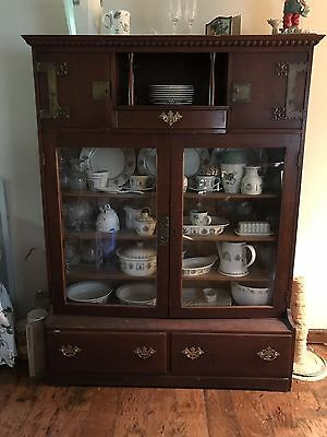 Antique Display China/Bookshelf Cabinet with Drawers