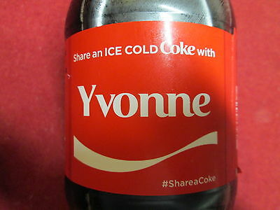 Brand New 2017 Share a Coke with YVONNE-20 oz Collectible Coca-Cola Bottle-HTF