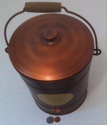Copper Ice Bucket with Lid and Inner Plastic Shell to Make Cleaning Easy, Bar