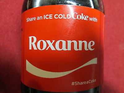 Brand New 2017 Share a Coke with ROXANNE-20 oz Collectible Coca-Cola Bottle-HTF