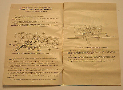 1925 McCormick-Deering Disk Harrow Instructions Setup Op International Harvester