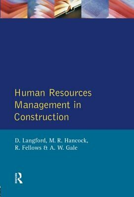 Human Resources Management in Construction (Char... by Langford, David Paperback