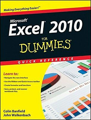 Excel 2010 For Dummies Quick Reference (For Dummi..., Walkenbach, John Paperback