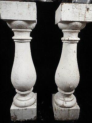"""Pair Antique Balusters 20"""" X 4 3/4"""" Architectural Salvage Several Available"""