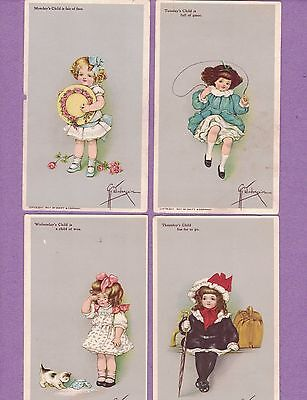 0415Q Vtg Swift Soap Trade Card Set A/s Grace Wiederseim Child's Day Of Weeks