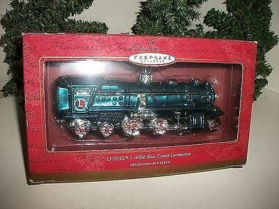 Hallmark Keepsake Lionel 1-400E Blue Comet Locomotive Blown Glass Orn Nib