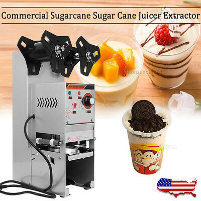 Automatic Electric Sealing Machine Cup Sealer Boba Bubble Tea Coffee