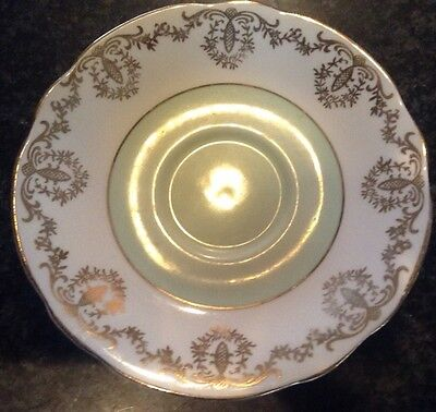 Imperial Fine English China Tea Cup Saucer Warranted 22 Kt. Gold Trim