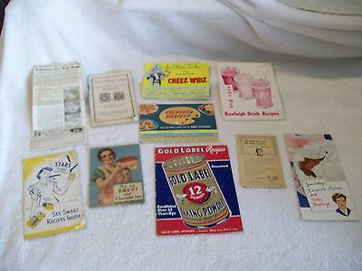 Vintage Recipe Booklets/Advertisment lot of 10 Kraft, Betty Crocker & More