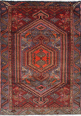 "Hand-knotted Persian Carpet 4'0"" x 6'5"" Persian Vintage Wool Rug...DISCOUNTED!"