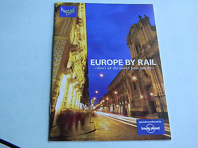 Europe by Rail 2008 booklet train routes itinerary EuRail brochure 24 pages