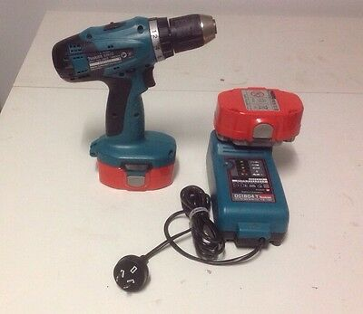 Makita Cordless Drill X 2 Batteries In Case 'Pickup Cheltenham' VeryGood Cond