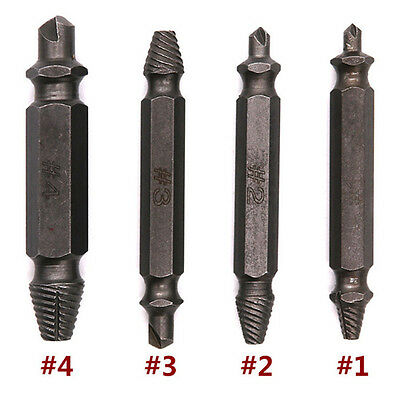 Damaged Screw Remover and Extractor Set of 4 Stripped Screw Removers Screwdrive